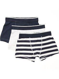Sous-vêtement - Lot de 3 boxers fantaisie - Kiabi
