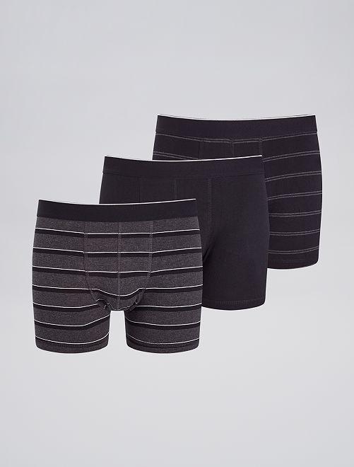Lot de 3 boxers fantaisies                                                                                                                 noir