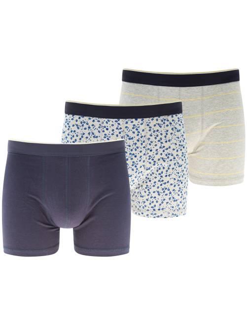 Lot de 3 boxers                                                                 gris/bleu Homme