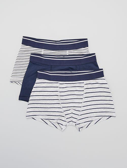Lot de 3 boxers                                                                                                                                                                                                                                                                                                                             gris/marine/écru
