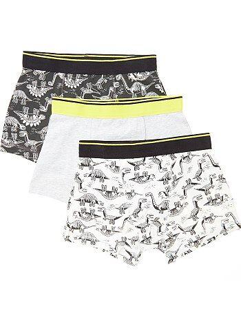 Lot de 3 boxers imprimés 'dinosaures' - Kiabi