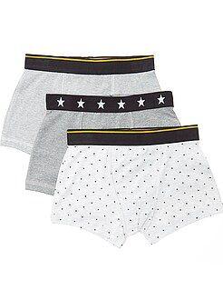 Sous-vêtement - Lot de 3 boxers imprimés 'dinosaures' - Kiabi