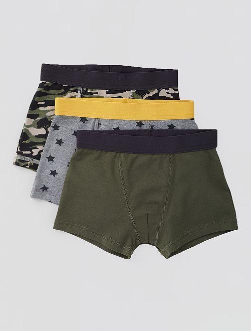 Lot de 3 boxers                                                                                                                                                                                                                                                                             kaki/gris