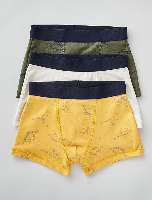 Lot de 3 boxers                                                                                                                                                                                                                                                                             kaki/gris/jaune