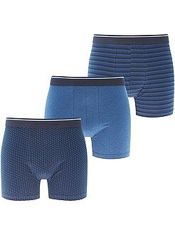 Homme du S au XXL Lot de 3 boxers long fit en coton stretch