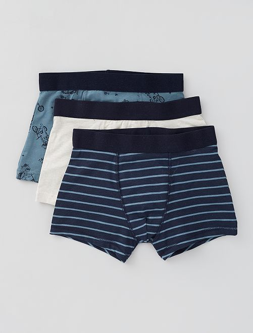 Lot de 3 boxers                                                                                                                                                                                                                                                                 marine/bge/bleu
