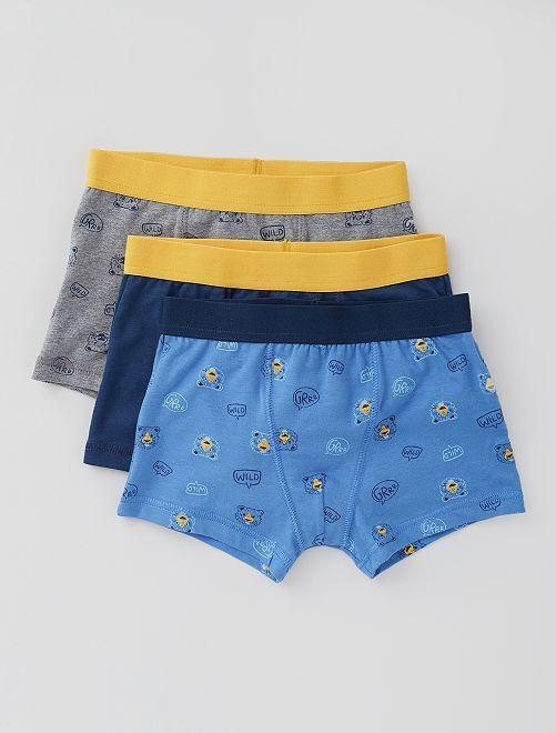 Lot de 3 boxers                                                                                                                                                                                                                                                                 marine/bleu/jaune