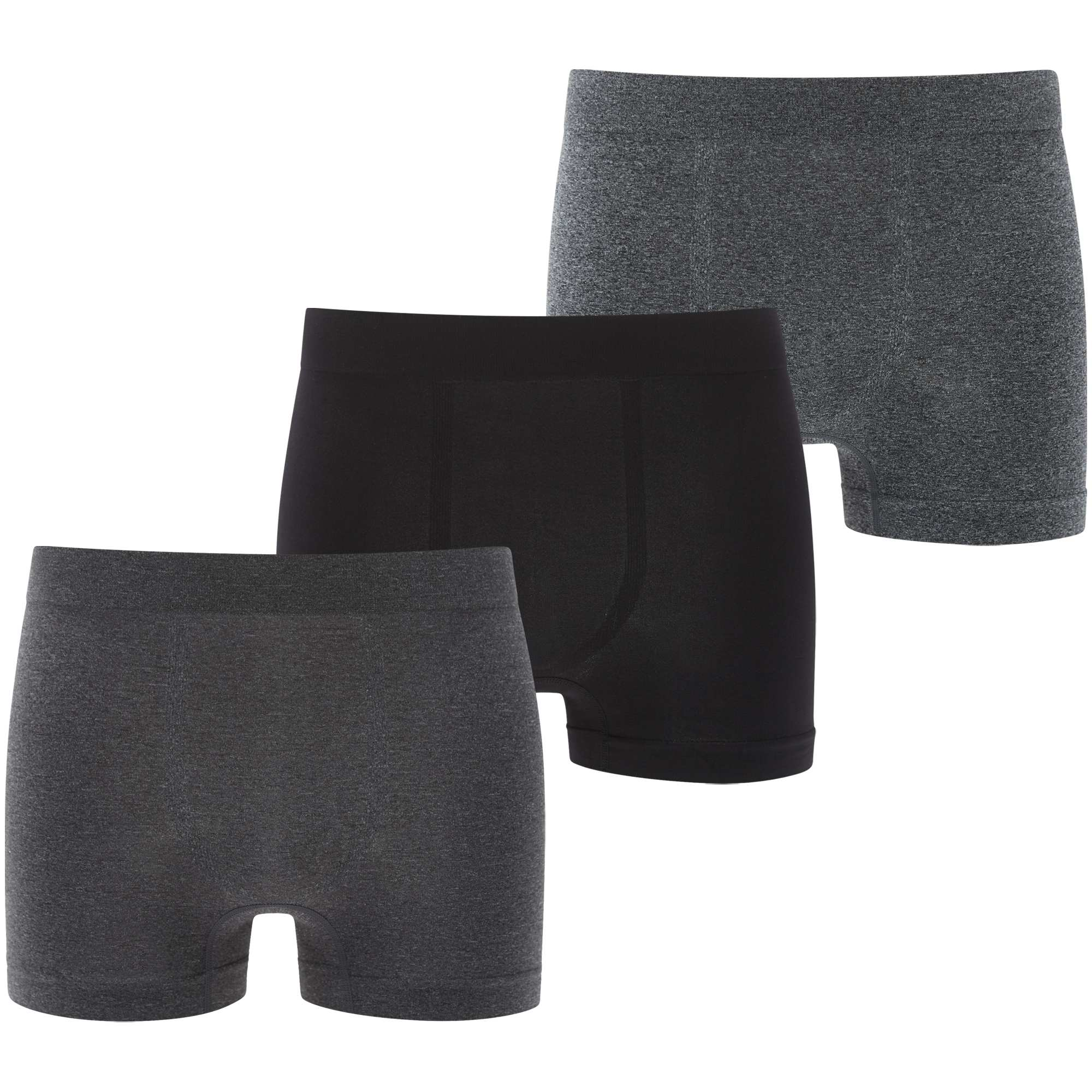 lot de 3 boxers microfibre sans couture homme gris kiabi 12 00. Black Bedroom Furniture Sets. Home Design Ideas