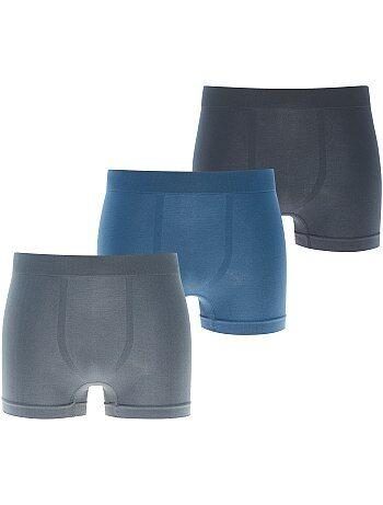 Lot de 3 boxers microfibre sans couture