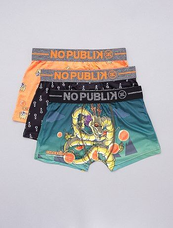 Lot de 3 boxers 'No Publik' 'Dragon Ball Z'