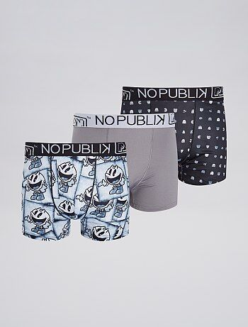 Lot de 3 boxers `Pac man`