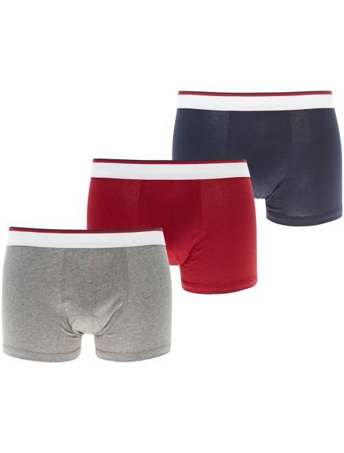 Lot de 3 boxers                                         rouge/marine/gris