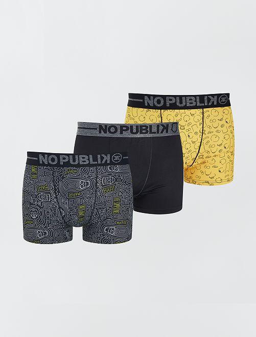 Lot de 3 boxers 'Simpson'                             jaune/noir