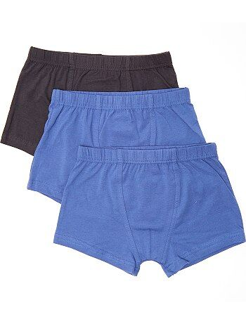 Lot de 3 boxers unis - Kiabi