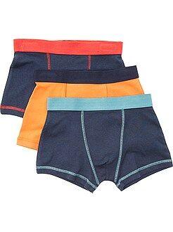 Sous-vêtement - Lot de 3 boxers unis
