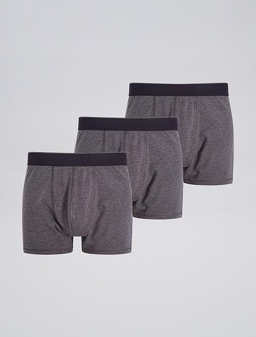 Lot de 3 boxers unis                                                     gris