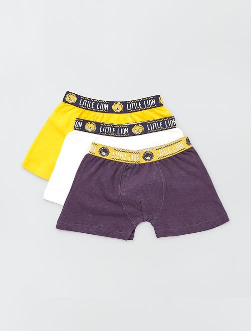 Lot de 3 boxers unis                             jaune