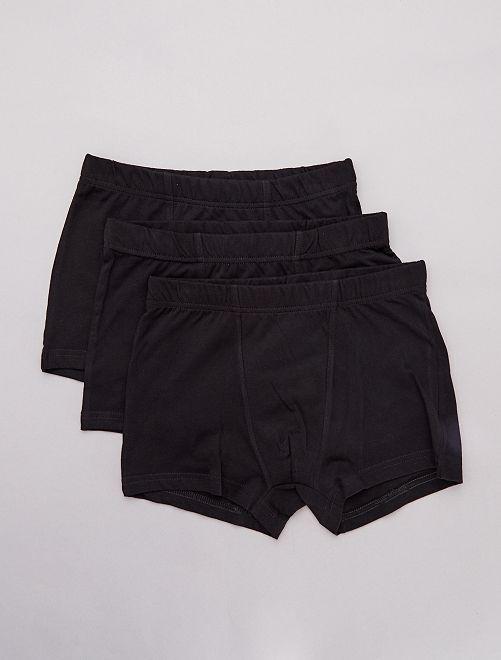 Lot de 3 boxers unis                                         noir