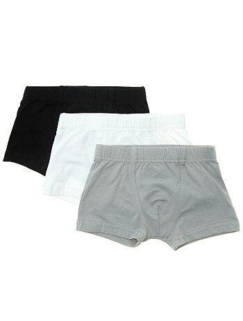 Lot de 3 boxers unis - Kiabi
