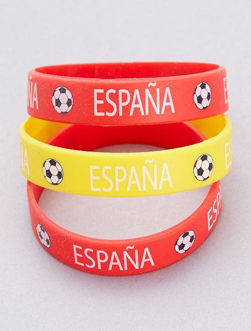 Lot de 3 bracelets football                                                                 Espagne