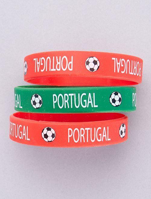 Lot de 3 bracelets football                                                                 Portugal