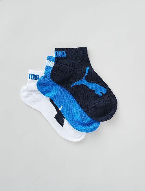 Lot de 3 chaussettes basses 'Puma'                                                                             blanc/bleu