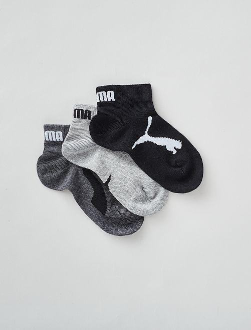 Lot de 3 chaussettes basses 'Puma'                                                                             noir/gris