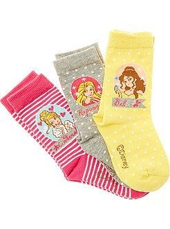 Fille 3-12 ans Lot de 3 chaussettes 'Disney Princess'