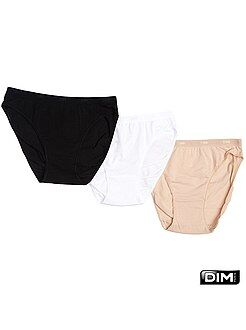 Culotte, shorty, string blanc - Lot de 3 culottes coton Les Pockets de 'DIM'