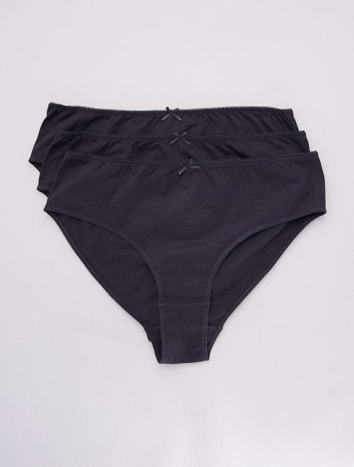 Lot de 3 culottes coton majoritaire                                         noir