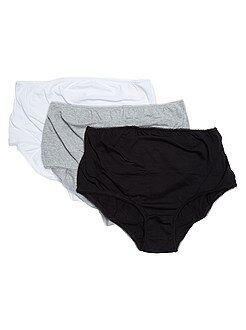 Lot de 3 culottes de grossesse - Kiabi