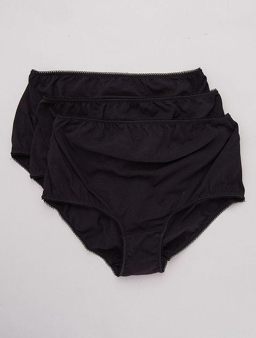 Lot de 3 culottes de maternité                                                     noir