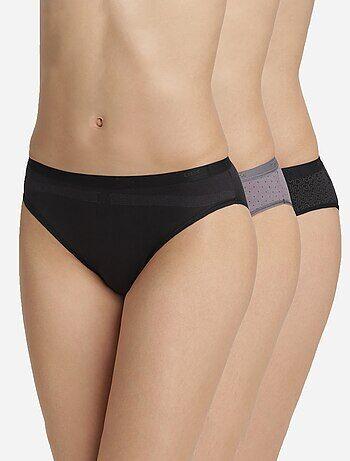 Lot de 3 culottes Les Pockets de 'DIM'                                                                                                                                         logo Lingerie du s au xxl