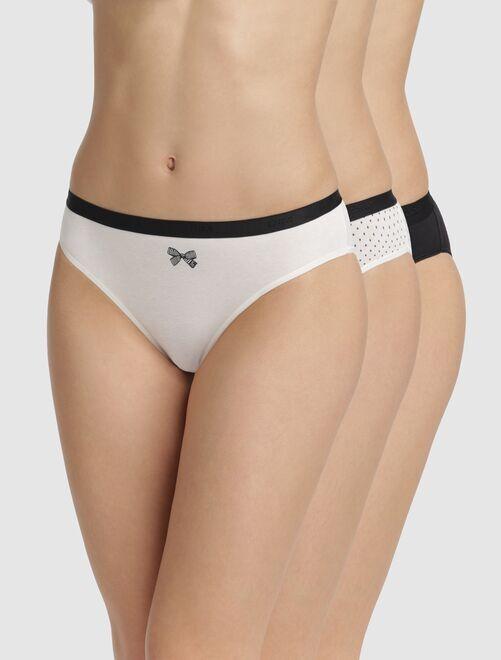 Lot de 3 culottes Les Pockets de 'DIM'                                                                                                     noir/écru Lingerie du s au xxl