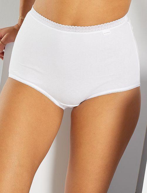 Lot de 3 culottes maxi 'Sans Complexe'                                         blanc