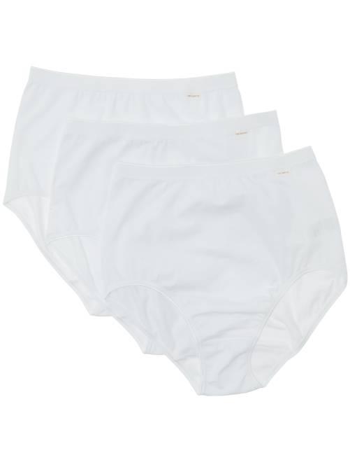 Lot de 3 culottes 'Sans Complexe'                                          blanc Lingerie du s au xxl