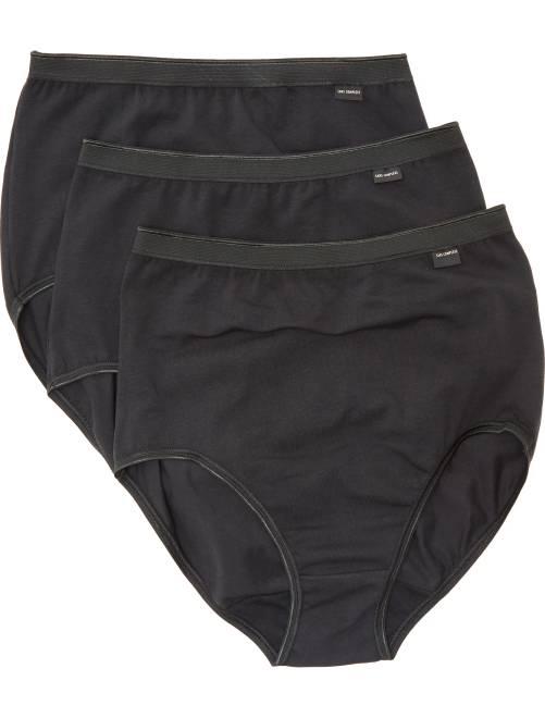 Lot de 3 culottes 'Sans Complexe'                                          noir Lingerie du s au xxl