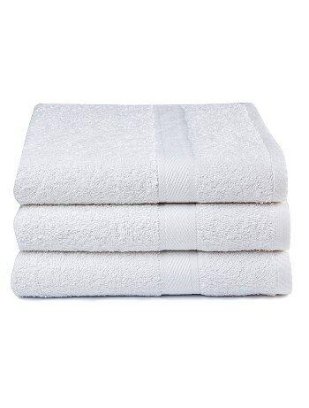 Lot de 3 draps de bain pur coton
