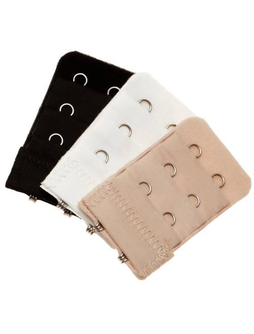 Lot de 3 extensions de soutien-gorge 2 crochets                             noir/blanc/chair Lingerie du s au xxl