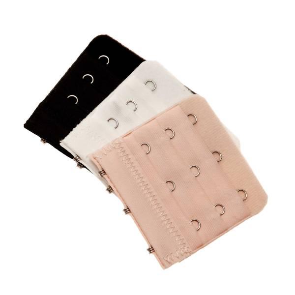 Astuce lingerie 3 rallonges extensibles pour soutien gorge 3 crochets blanc