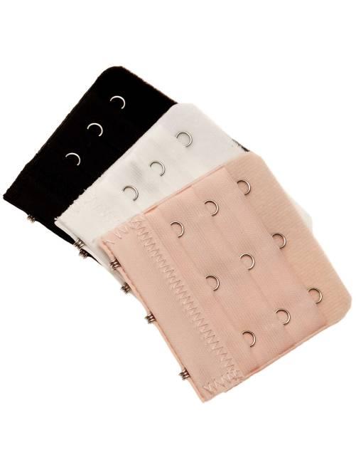 Lot de 3 extensions de soutien-gorge 3 crochets                             noir/blanc/chair Lingerie du s au xxl