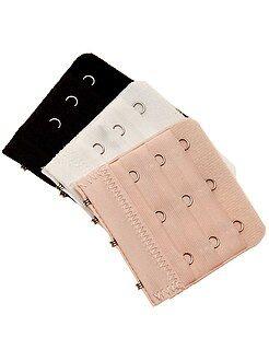 Accessoires lingerie - Lot de 3 extensions de soutien-gorge 3 crochets - Kiabi