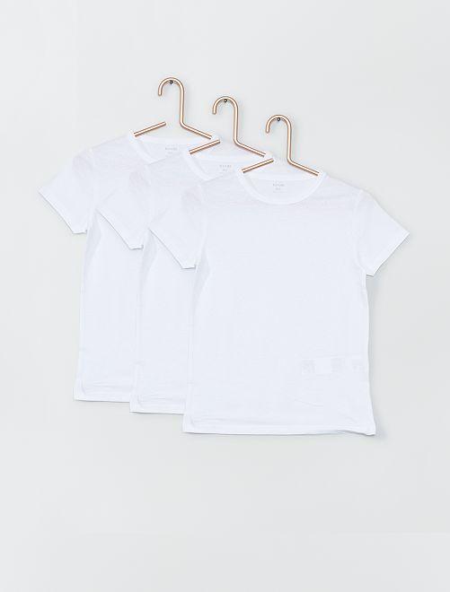 Lot de 3 maillots de corps éco-conçus                             blanc