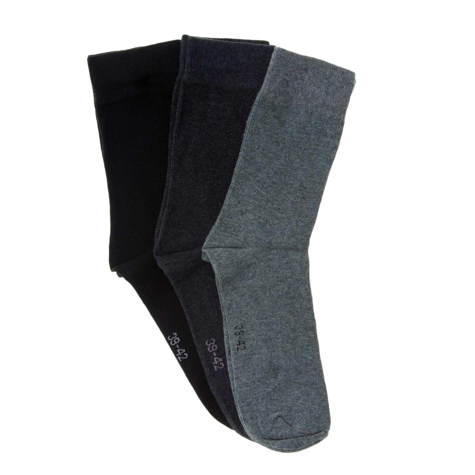 lot de 3 paires de chaussettes homme noir gris kiabi. Black Bedroom Furniture Sets. Home Design Ideas