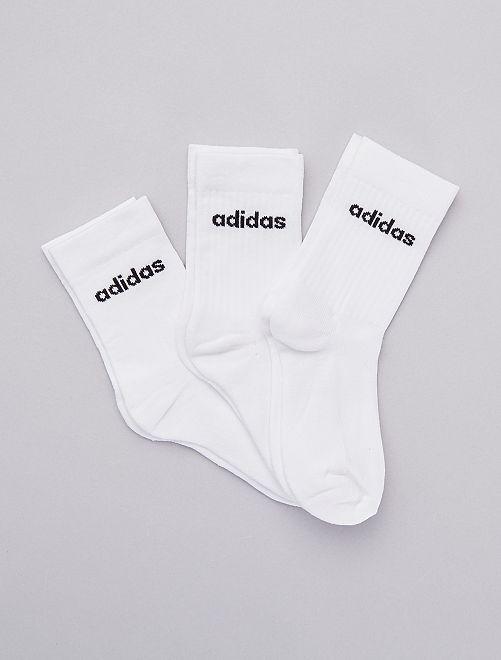 Lot de 3 paires de chaussettes 'adidas'                             blanc