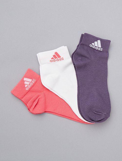 Lot de 3 paires de chaussettes 'Adidas'                             rose Lingerie du s au xxl
