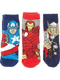 Garçon 3-12 ans Lot de 3 paires de chaussettes 'Avengers'