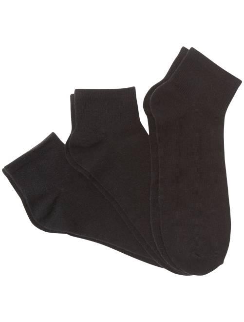 lot de 3 paires de chaussettes basses homme noir kiabi 5 00. Black Bedroom Furniture Sets. Home Design Ideas