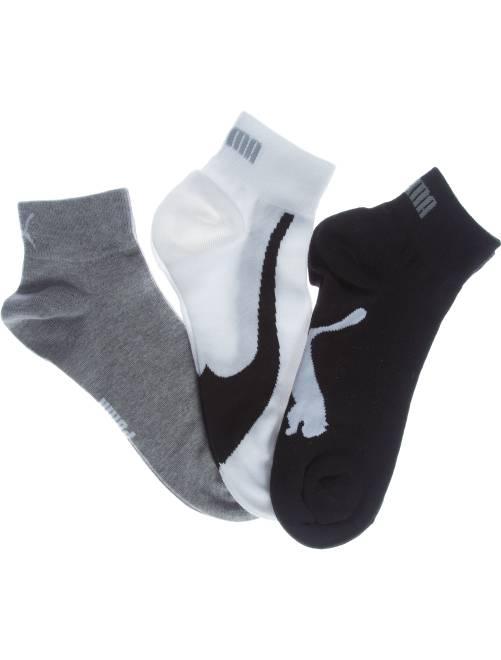 Lot de 3 paires de chaussettes basses 'Puma'                                             blanc/gris/noir