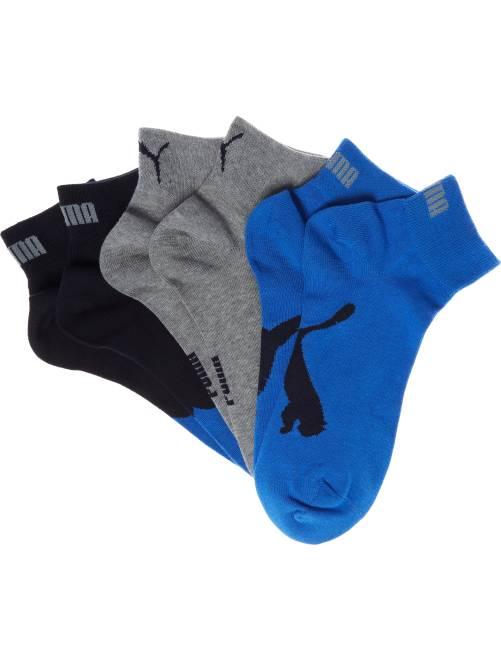 Lot de 3 paires de chaussettes basses 'Puma'                                                                                         bleu/gris Homme